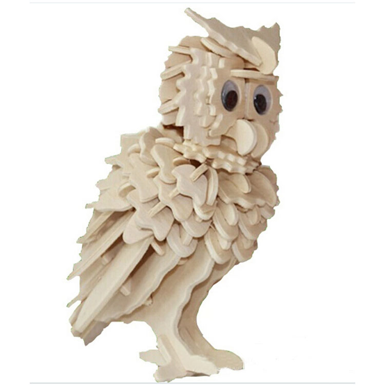 Wooden Owl Woodcraft 3D Puzzle Model,Educational Toys(China (Mainland))