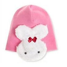 Симпатичный Кролик Ребенок детские Детские Шапки Мальчики Девочки Cap Для весна Осень Женщины Зима Шапочки Мода Детские Для Вязания Шляпы HAT0065(China (Mainland))