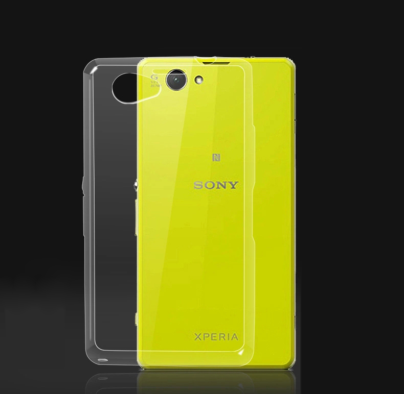 Clear Ultra thin TPU Case Soft Back Cover For Sony Xperia Z1 Compact / Z1 Mini D5503