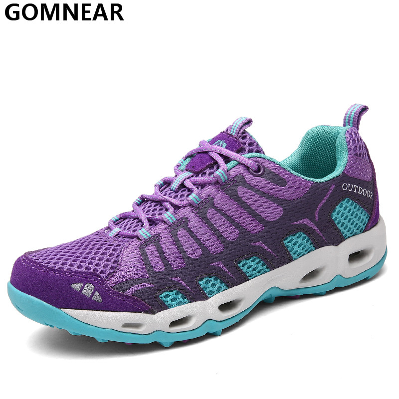 GOMNEAR Women's Sport Running Shoes Outdoor Breathable Lightweight Sneakers Women jogging Antiskid Trend Tourism Athletic Shoes(China (Mainland))