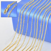 New GF Jewelry Sample  18″ Mix 10 Kinds 18K Solid Yellow Gold Filled Venice Figaro Rolo Curb Necklace Chains 18K-GF Stamped