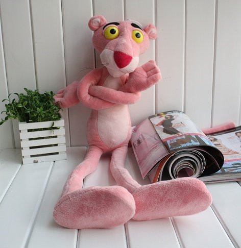 Big Stuffed plush toys TV figure pink leopard doll birthday gift DIY pose 100cm toy(China (Mainland))