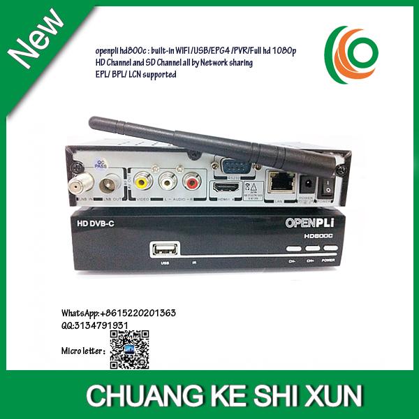 2015 DVB-C OPENPLI 800C watching singapore channels HD cable receiver DVB-C support IPTV with black box hd-c608 blackbox c801 hd(China (Mainland))