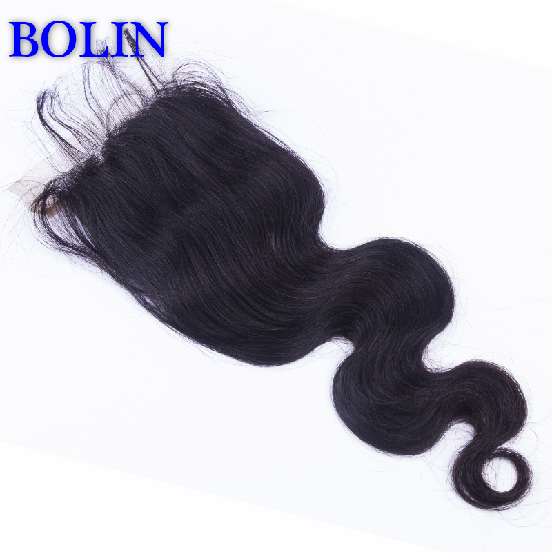 6A Brazilian/ Malaysia/Peruvain Hair lace front closure 4*4 silk base closures body wave three part or middle part silk closure<br><br>Aliexpress