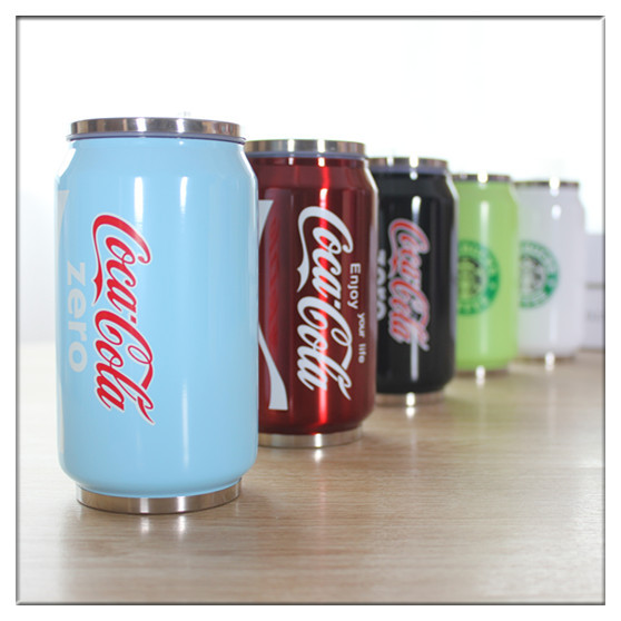 Cans vacuum stainless steel thermos flask creative coke bottle insulation cup Thermal insulation cup VACUUM straight  vacuum