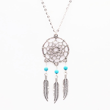 XL291 New Fashion accessories jewelry 2016 Dream catcher turquoise pendant necklace gift for women girl wholesale