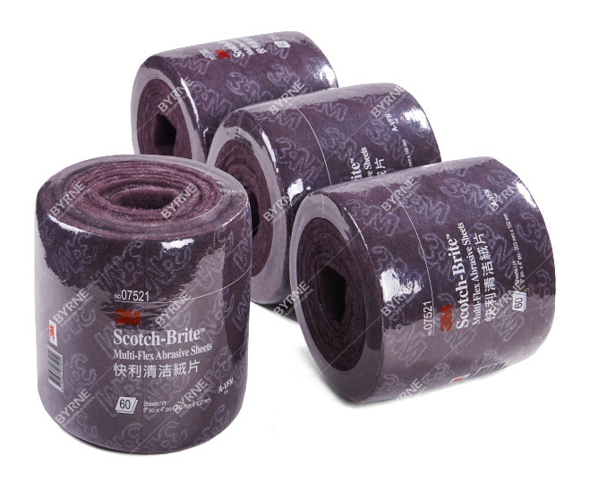 3M07521 industrial scouring cloth roll, scouring pads, rust cloth, La Sibu, nylon roll, non-woven abrasive roll(China (Mainland))