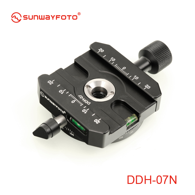 SUNWAYFOTO DDH-07N Tripod Head Quick Release Clamp For DSLR BallHead Panoramic panning Release Clamp without Arca Plate(China (Mainland))