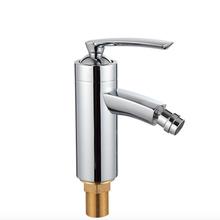 free shipping cold and hot water chromed bidet faucet(China (Mainland))