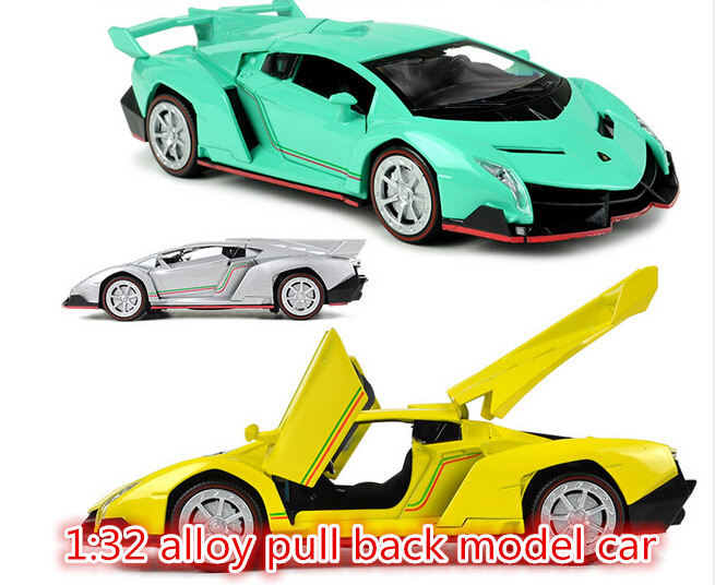 Supercar cars 1:32 alloy Diecast pull back music flashing model car Electric Simulation kids toys(beibei002)(China (Mainland))