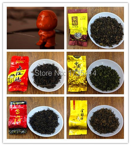 Five kinds of different flavors of tea Chinese oolong tea, black tea, includingTea pet fountain, 140 grams of high-quality gifts<br><br>Aliexpress