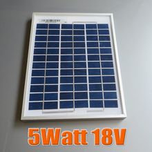 5W 18V Polycrystalline silicon Solar Panel used for 12V photovoltaic power home system, 5Watt 5WP 12VDC PV Poly solar Module(China (Mainland))