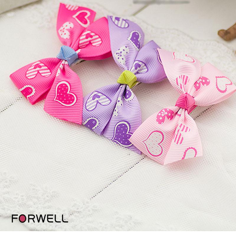 3Pcs/lot Children hair pins hair ornaments wholesale baby girls floral bow hair clip headdress flower hair ornaments(China (Mainland))