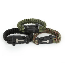 Buy Camping Hiking Emergency ParaCord Bracelet Men Women Survival Parachute Rope Fire flint Whistle Buckle Kit Wristbands for $1.25 in AliExpress store
