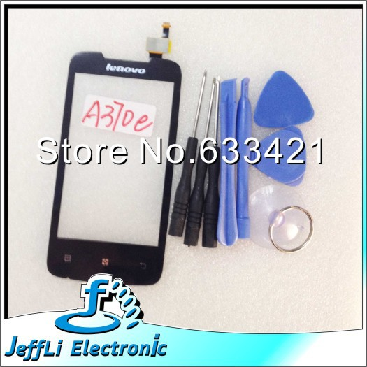 10pcs/Lot Wholesale Original Touch Screen Touchscreen Digitizer Glass Replacement For lenovo A370e + Open Tools