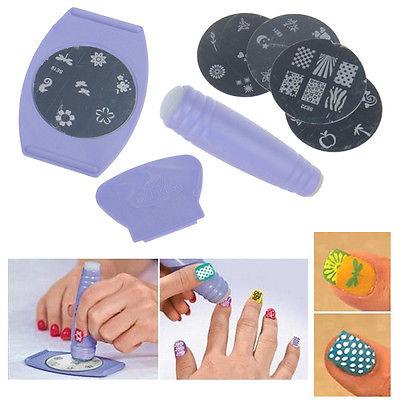 Professional Nail Art DIY Pattern Printing Manicure Machine Stamp Stamper Tool Set Nail Art Tools