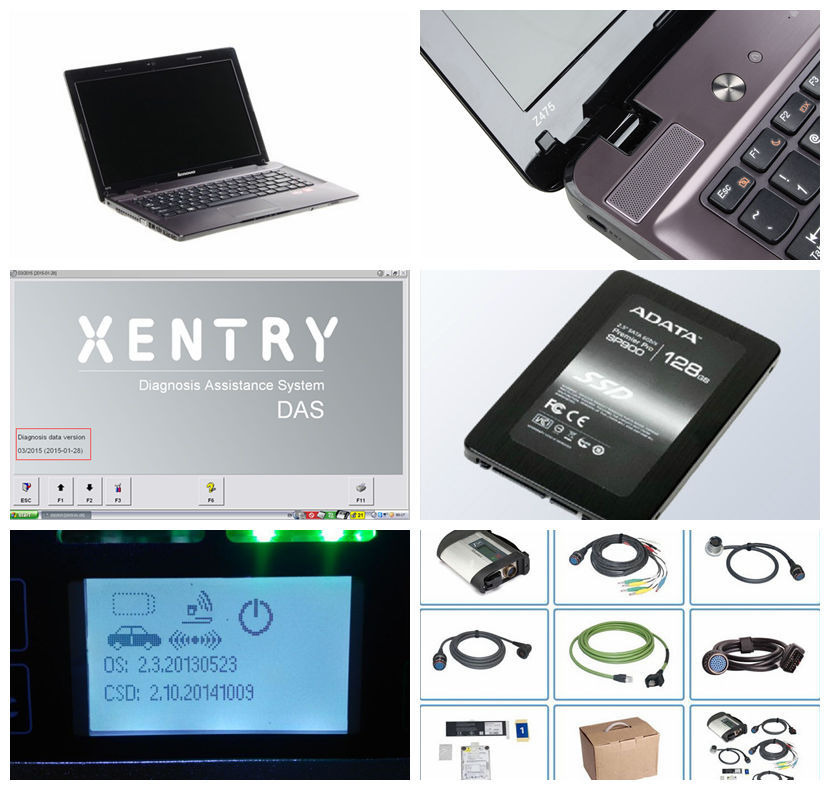 2015 Car Diagnostic tool MB Star C4 SD Connect + 2015.03 Software SSD with New Laptop Z475 Full set stable perform ready to work(China (Mainland))