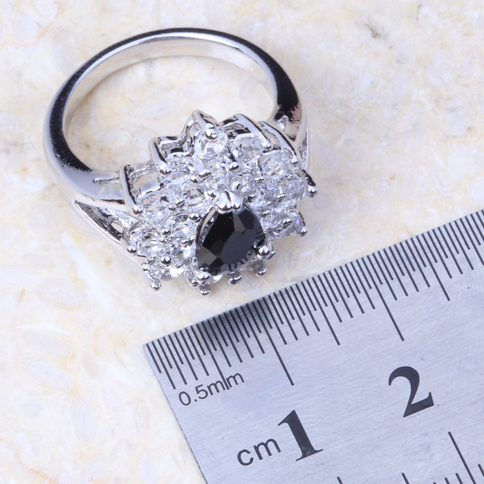 Hot Sell ! High Quality ! Enchanting Black Sapphire White Topaz ...