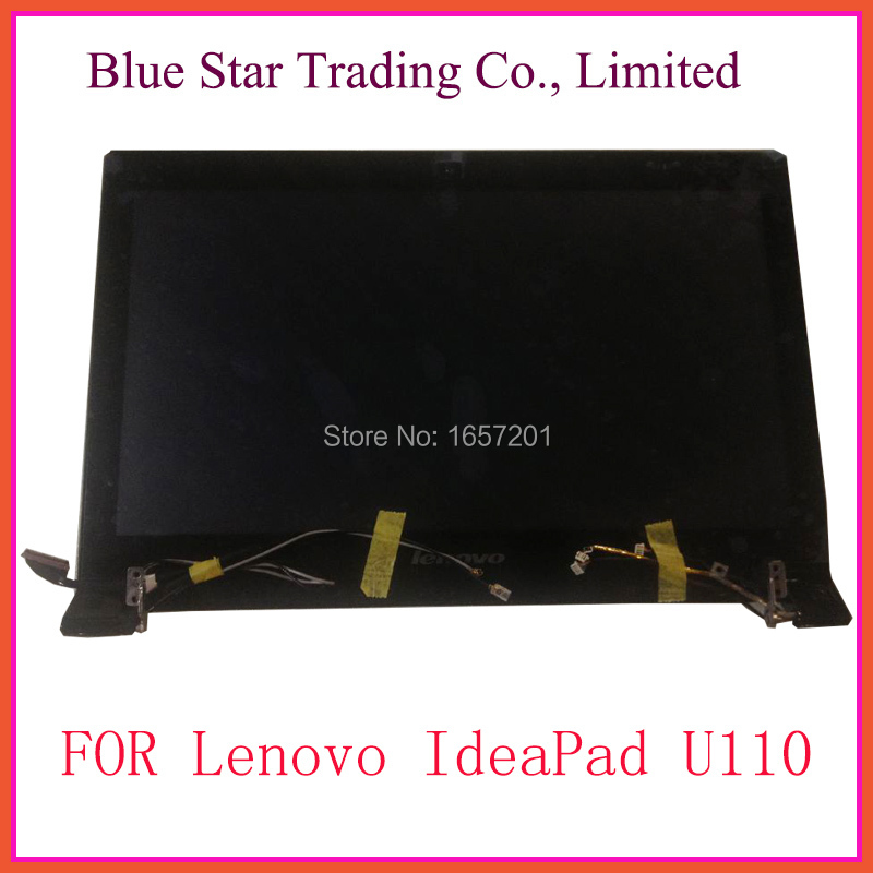 free shipping For Lenovo IdeaPad U110 notebook Assembly upper half part ,Black 11inch lcd matrix(China (Mainland))