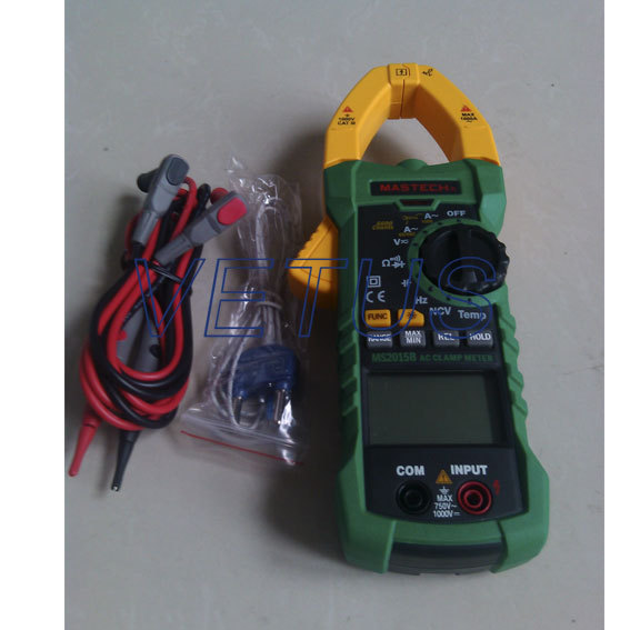 MASTECH MS2115B DIGITAL CLAMP METERS DC/AC Voltage Current Resistance Capacitance Tester True RMS with USB Data Acquisition