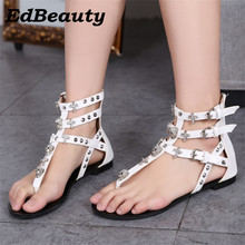 Buy Ed Beauty 2017 New Fashion Women Sandals rivet Ladies Flip Flops Bohemia Woman Shoes Comfort Beach Summer Flat Sandals 35-40 eur for $18.98 in AliExpress store