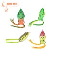 4Pcs Set Colorful L Frog Bait Artificial Lure PVC Fishing Frog Lure Hard Bait With Double