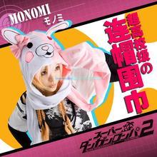 Anime Dangan Ronpa Mono Kuma  Lovely rabbit hooded scarf  cool cosplay(China (Mainland))