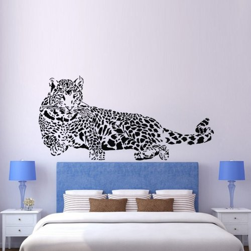 New design vinyl wall stickers animal leopard panther home for Diseno de paredes para salas