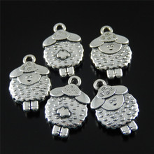 Buy 10pcs/lot Antique silver Alloy sheep Charms Necklace pendants fine Jewelry Making Cute Baby gift 19*12*4mm Animal Shape 50939 for $2.13 in AliExpress store