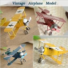 3pc Vintage Metal Plane Model Iron Retro Aircraft Glider Biplane Aeromodelo Pendant Airplane Model Toy Home Christmas Decoration(China (Mainland))