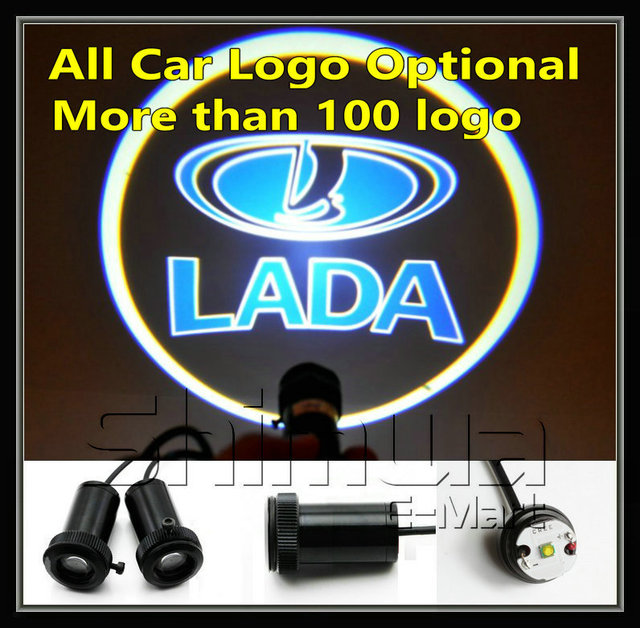 Free shipping 4 generation smaller laser lamp, smaller and brighter logo llight for lada car door light projector