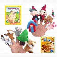 Retail Plush Finger Puppets Pattern For Kids Talking Props Toys/dolls World The Nursery Rhyme-Old Macdonald Had A Farm 10pcs/set(China)