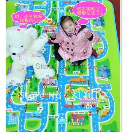 Free shipping Baby crawling mat / play mat / 1 whole piece / good quality / colorful / kid playing carpet / children rug(China (Mainland))