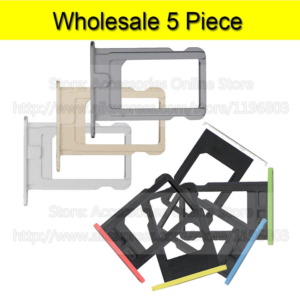 5 Piece For iPhone 5s Sim Card Tray Slot Holder For iPhone 5C 5(China (Mainland))