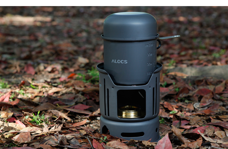 2016 New ALOCS Outdoors 1-2 people Outdoor alcohol stove  jacketed kettle Camping cooker Kit CW-C01<br><br>Aliexpress