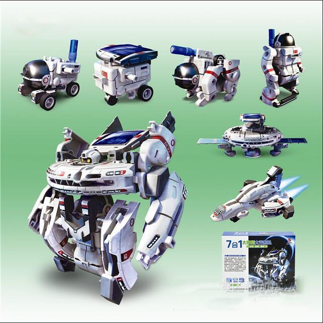 2016 Real Solar Robot Funny Gadgets Seven Integrating Space Fleet Magic Diy Toys For Children Environmental 2117(China (Mainland))