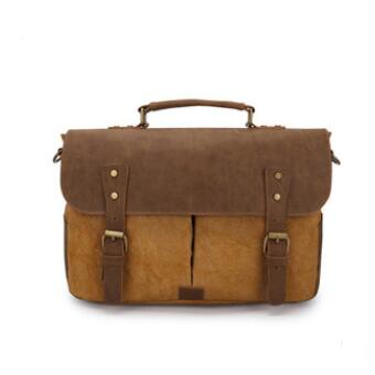 Super Vintage Men Bag Crazy House Leather Man Handbags England Casual Messenger Canvas Bags Men Shoulder