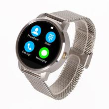 2015 горячей V360 часы 1.22 » IPS круговой экран монитор сердечного ритма для Android телефон IOS iPhone 6 smartwatch бесплатная доставка
