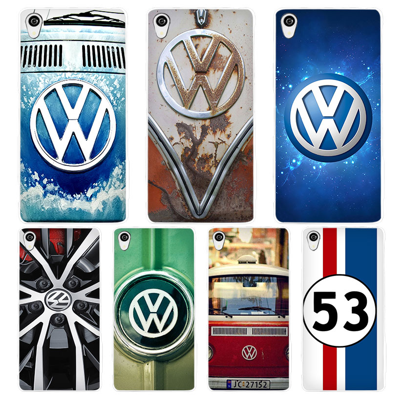 Volkswagen vw bus White Phone Case Cover for Sony Xperia Z1 Z2 Z3 Z4 Z5 M4 Aqua C4 XA XZ E4 E5 L36H(China (Mainland))