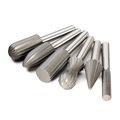 6pcs set 6mm Shank Tungsten Steel Rotary File Cutter Engraving Grinding Bit For Rotary Tools