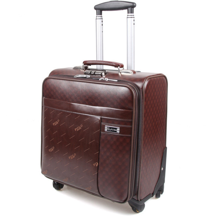 sport bag men travel bag Synthetic cowhide commercial compute trolley case, new style, spinner wheels luggage, lock, mute,16(China (Mainland))