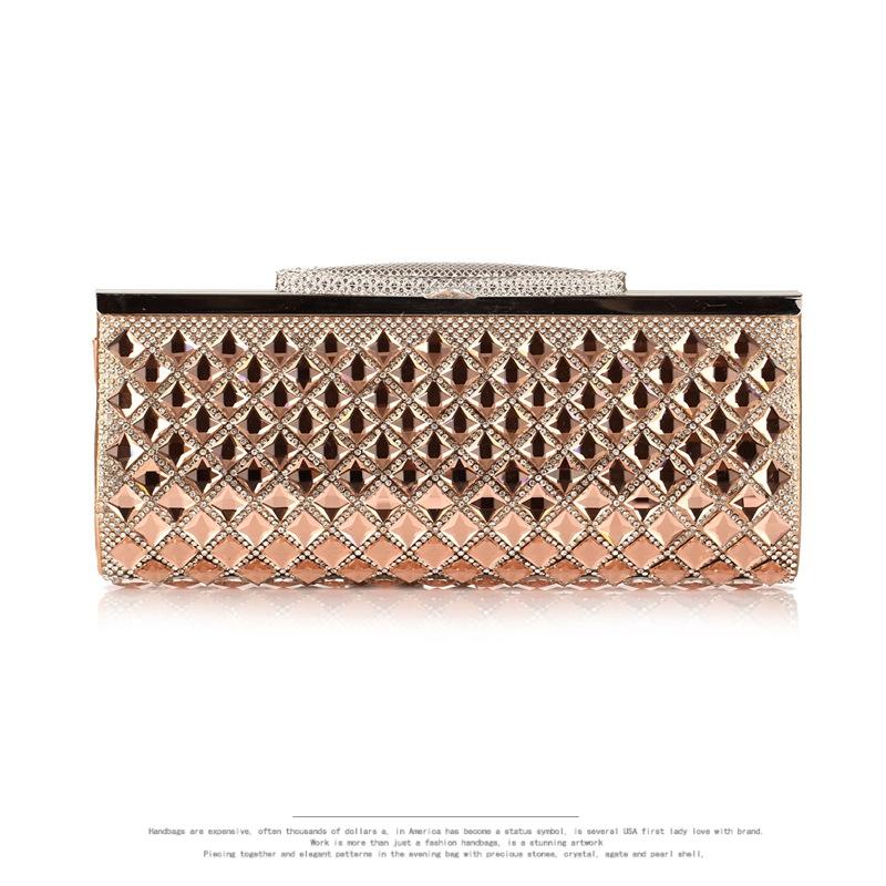 2016 Lady Top Quality Women's Glass Diamonds Casual Clutch Evening Bag Classic Crystal Wedding Handbags Party Bag Phone Bags