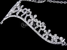 Wedding Party Bridal Bridesmaid Crystal Flower Rhinestone Crown Tiara Frontlet