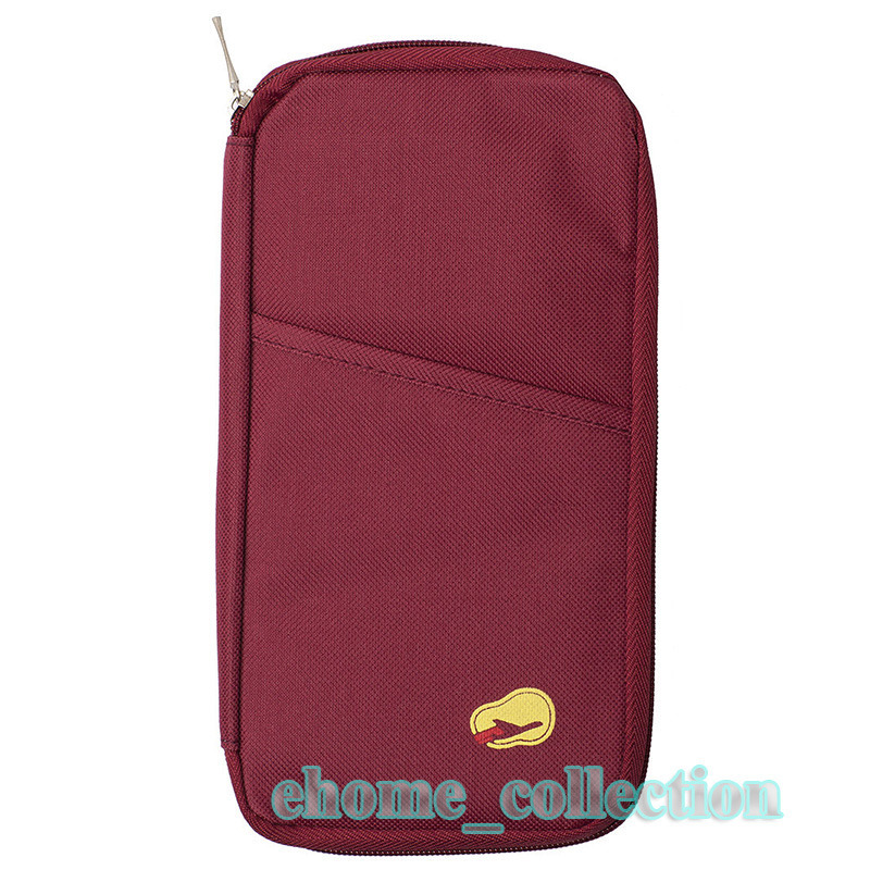 Hot Sale Fashion Women's Casual Wallet Red Color Travel Passport Credit ID Card Cash Holder Canvas Case Purse Bags(China (Mainland))