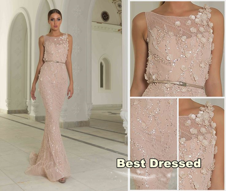 Custom Made Graceful 2015 Scoop Neckline Beaded Sequined Appliques Sleeveless sheath Lace Long Evening Dress