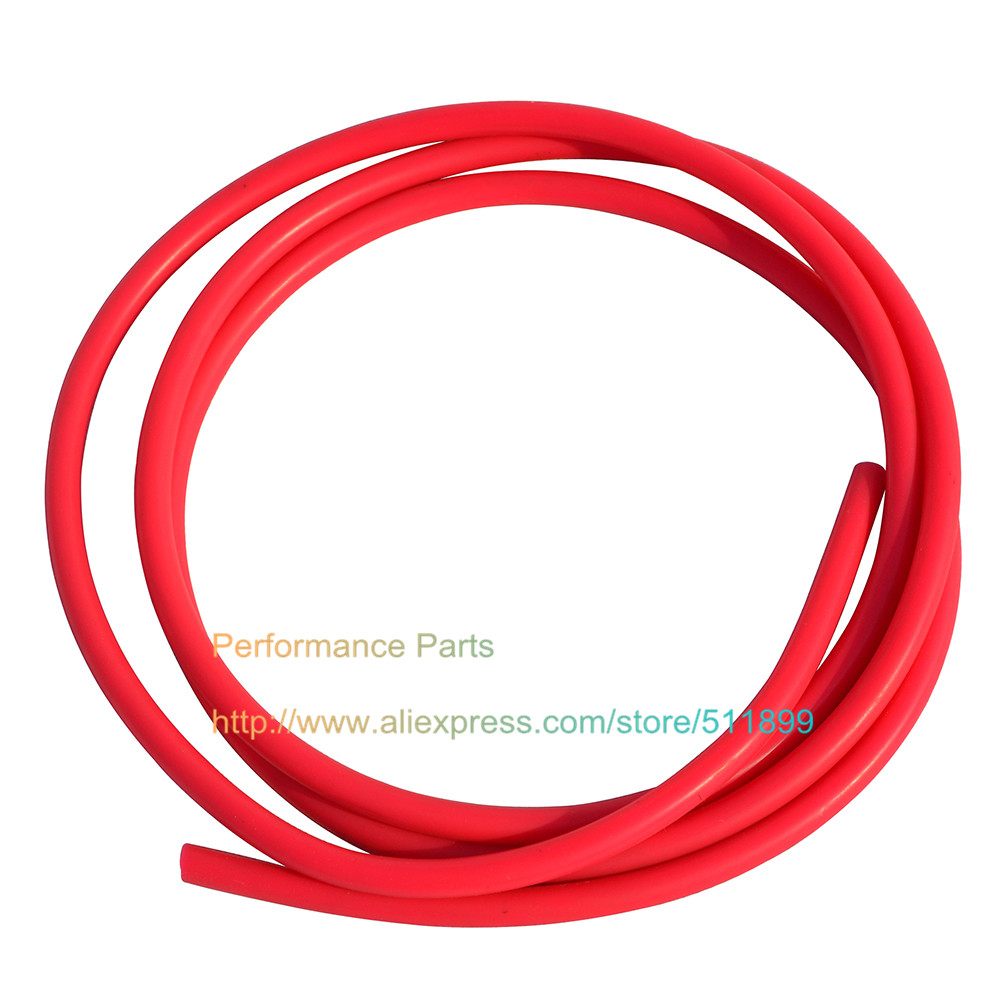 Red Color Universal 6mm Vacuum Silicone Hose (Length one meter )(China (Mainland))