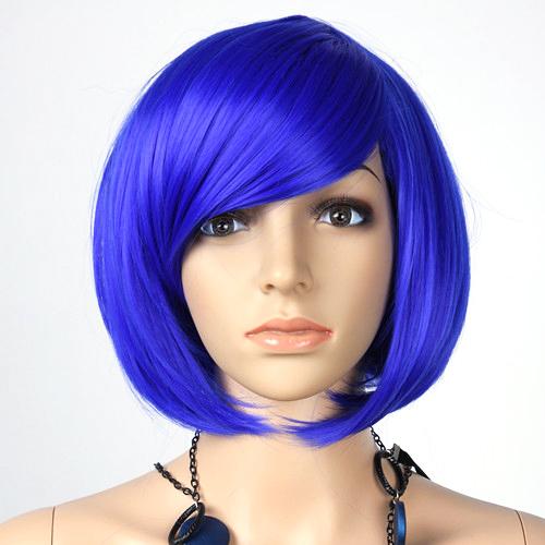 Student Supplies Masquerade Ball Head Hair Short Hair Wig Bangs Head Gold Ball Head Free Shipping(China (Mainland))