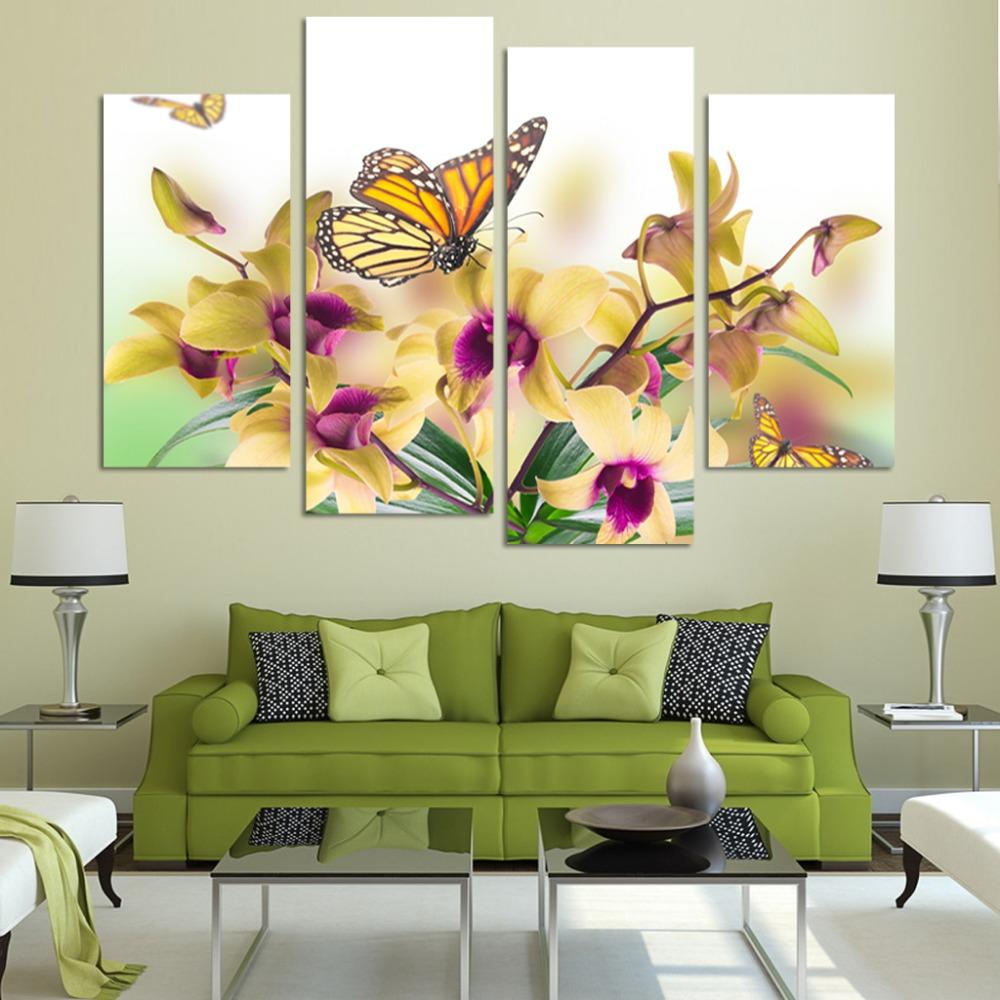 http://g02.a.alicdn.com/kf/HTB1AQr.JVXXXXXkXVXXq6xXFXXXB/Handgeschilderde-Geel-Vlinder-Orchidee-Bloemen-Decoratieve-Canvas-Schilderij-4-Stuk-Moderne-Muur-Art-Grote-Olie-Foto.jpg