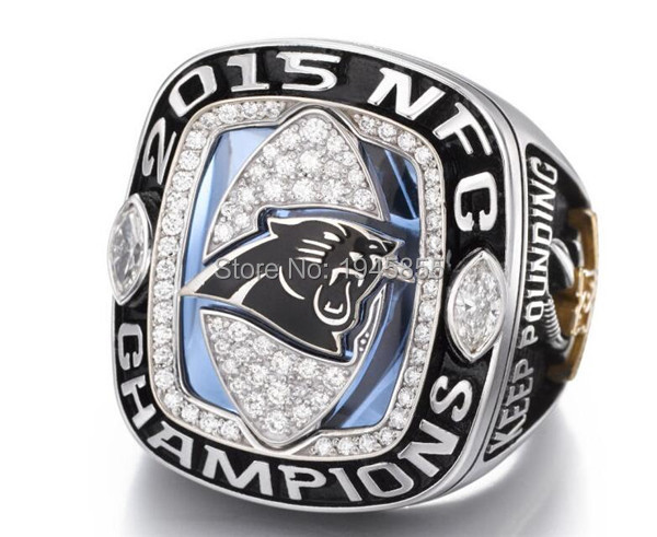 Free Shipping High quality 2015 2016 Carolina Panthers Super Bowl championship ring solid Men Brithday Fan Gift Wholesale(China (Mainland))