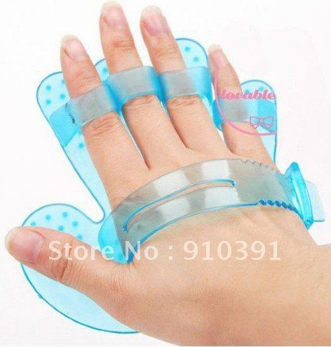 Massage relaxation series multifunctional rubber head massage gloves mitt also as cat dog bath brush for pet grooming product.